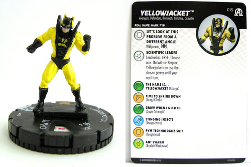 HeroClix - #015 Yellowjacket - Black Panther and the Illuminati
