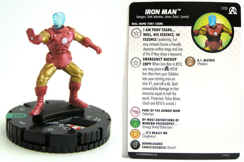 HeroClix - #018 Iron Man - Black Panther and the Illuminati