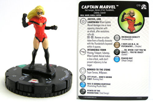 HeroClix - #019 Captain Marvel - Black Panther and the Illuminati