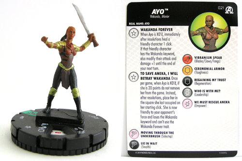 HeroClix - #021 Ayo - Black Panther and the Illuminati