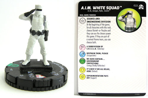 HeroClix - #022 A.I.M. White Squad - Black Panther and the Illuminati