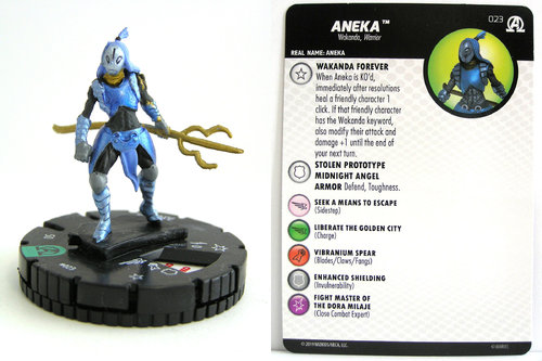 HeroClix - #023 Aneka - Black Panther and the Illuminati