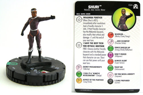 HeroClix - #024 Shuri - Black Panther and the Illuminati