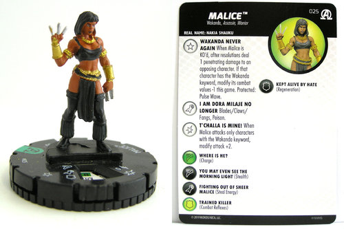 HeroClix - #025 Malice - Black Panther and the Illuminati