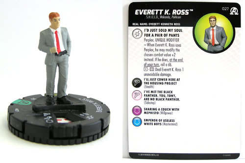 HeroClix - #027 Everett K. Ross - Black Panther and the Illuminati