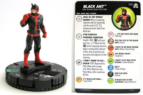HeroClix - #028 Black Ant - Black Panther and the Illuminati