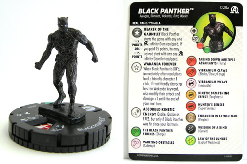 HeroClix - #029a Black Panther - Black Panther and the Illuminati