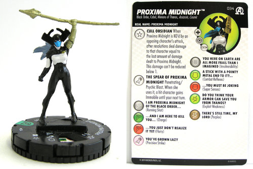 HeroClix - #034 Proxima Midnight - Black Panther and the Illuminati