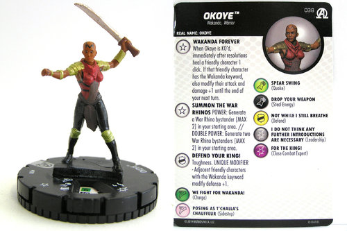 HeroClix - #038 Okoye - Black Panther and the Illuminati
