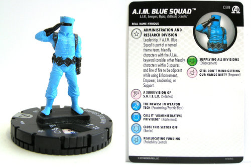 HeroClix - #039 A.I.M. Blue Squad - Black Panther and the Illuminati