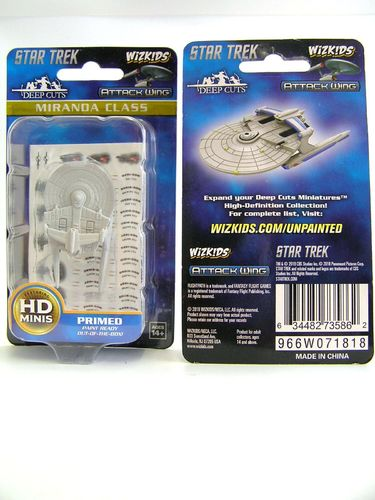 WZK73586 - Star Trek Attack Wing - Miranda Class - Deep Cuts Unpainted Miniatures