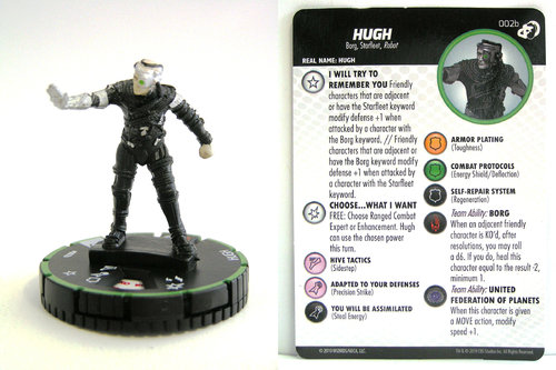 HeroClix - #002b Hugh - Star Trek Resistance is Futile