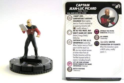 HeroClix - #003 Captain Jean-Luc Picard - Star Trek Resistance is Futile