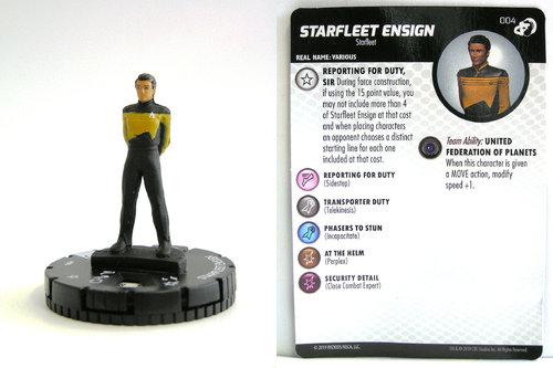 HeroClix - #004 Starfleet Ensign - Star Trek Resistance is Futile