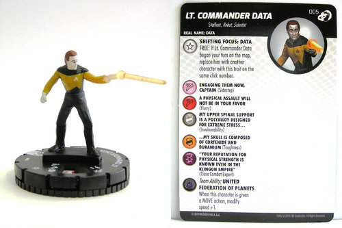 HeroClix - #005 Lt. Commander Data - Star Trek Resistance is Futile