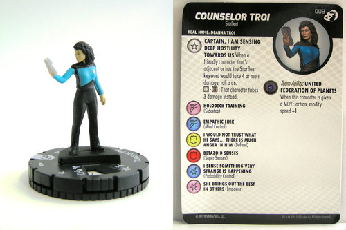 HeroClix - #008 Counselor Troi - Star Trek Resistance is Futile