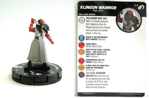 HeroClix - #009 Klingon Warrior - Star Trek Resistance is Futile