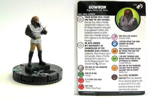 HeroClix - #010 Gowron - Star Trek Resistance is Futile