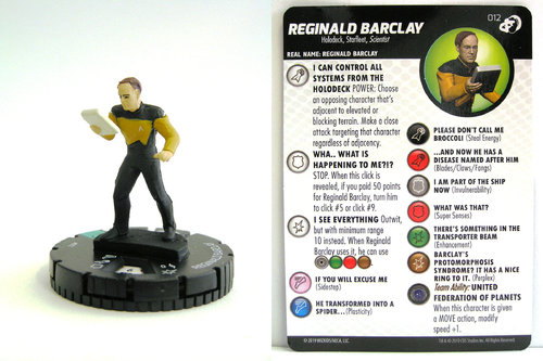 HeroClix - #012 Reginald Barclay - Star Trek Resistance is Futile