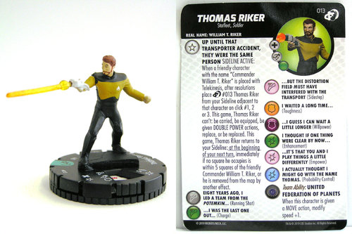 HeroClix - #013 Thomas Riker - Star Trek Resistance is Futile
