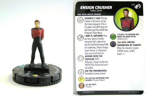 HeroClix - #014 Ensign Crusher - Star Trek Resistance is Futile