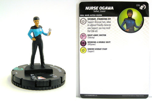 HeroClix - #016 Nurse Ogawa - Star Trek Resistance is Futile