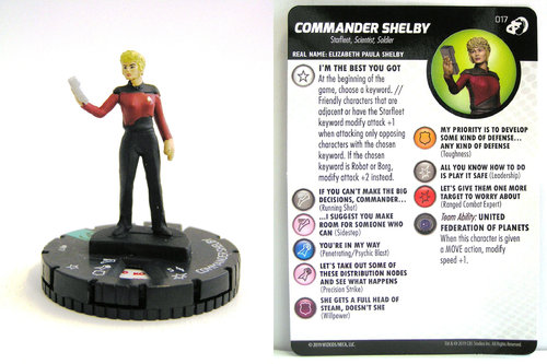HeroClix - #017 Commander Shelby - Star Trek Resistance is Futile