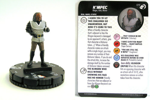 HeroClix - #019 K'mpec - Star Trek Resistance is Futile