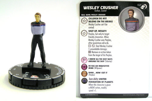 HeroClix - #021 Wesley Crusher - Star Trek Resistance is Futile