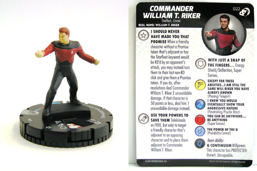 HeroClix - #022 Commander William T. Riker - Star Trek Resistance is Futile