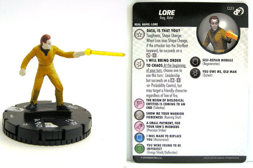 HeroClix - #023 Lore - Star Trek Resistance is Futile