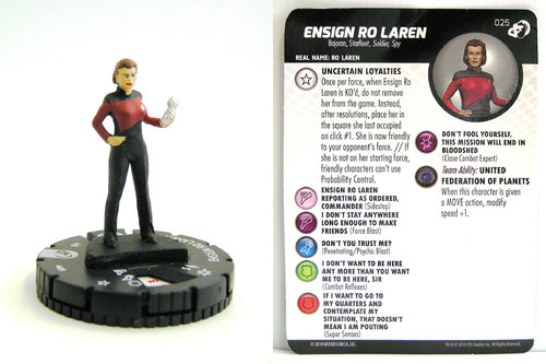HeroClix - #025 Ensign Ro Laren - Star Trek Resistance is Futile