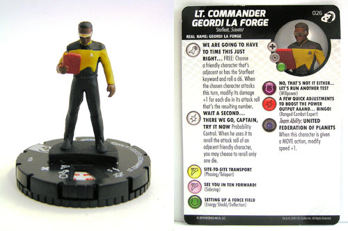 HeroClix - #026 Lt. Commander Geordi La Forge - Star Trek Resistance is Futile