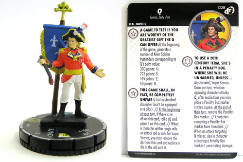 HeroClix - #028 Q - Star Trek Resistance is Futile