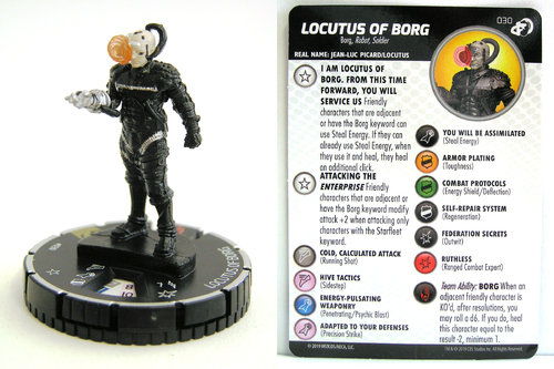 HeroClix - #030 Locutus of Borg - Star Trek Resistance is Futile