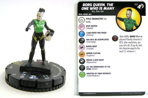 HeroClix - #031 Borg Queen, the One who is Many - Star Trek Resistance is Futile