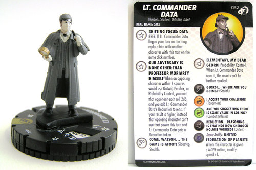 HeroClix - #032 Lt. Commander Data - Star Trek Resistance is Futile