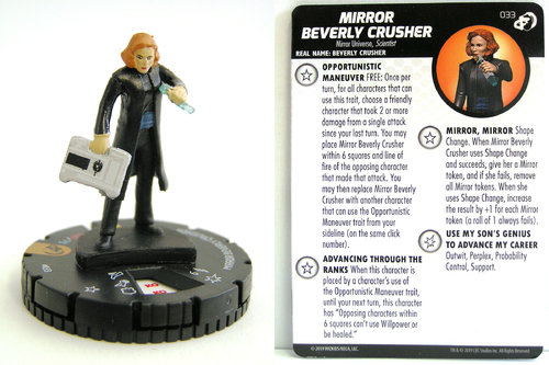 HeroClix - #033 Mirror Beverly Crusher - Star Trek Resistance is Futile