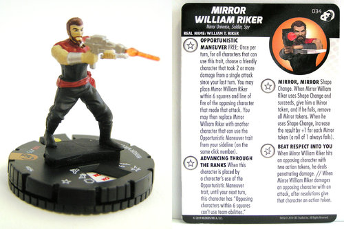 HeroClix - #034 Mirror William Riker - Star Trek Resistance is Futile