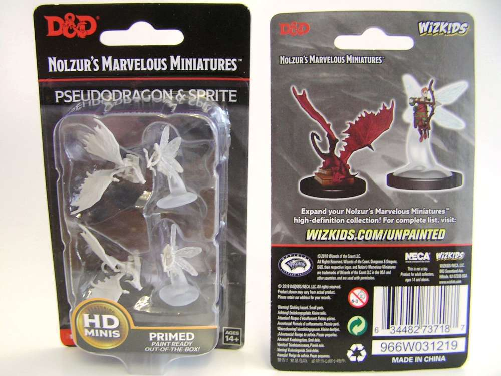 Nolzur/'s Marvelous Miniatures D/&D WizKids Unpainted Sprite /& Pseudodragon