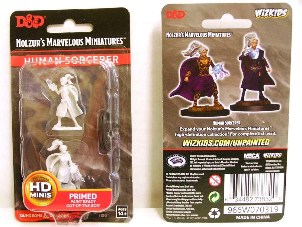 Human Female Sorcerer D/&D Nolzur/'s Marvelous Miniatures Wizkids WZK73832