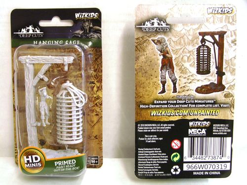 WZK73874 - Pathfinder Battles Deep Cuts Wave 10 - Unpainted Miniatures - Hanging Cage