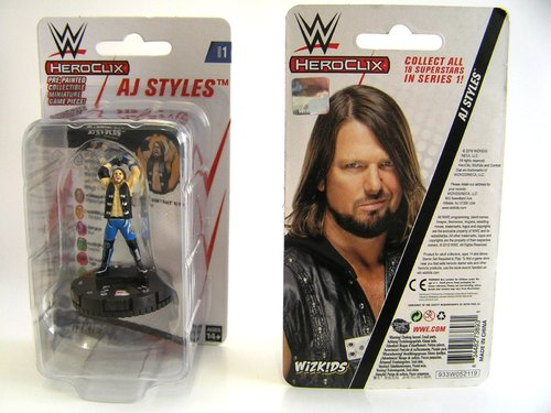 WZK73893 - HeroClix - AJ Styles Expansion Pack - WWE Series 1