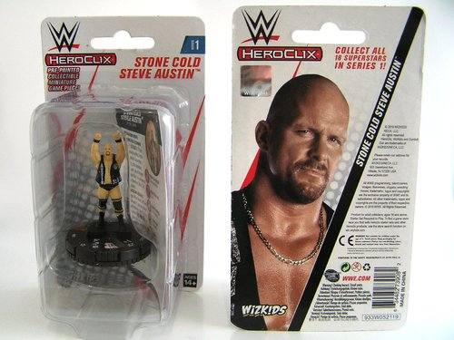 WZK73908 - HeroClix - Stone Cold Steve Austin Expansion Pack - WWE Series 1