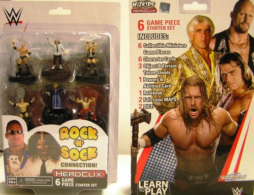 WZK73927 - HeroClix - The Rock'n'Sock Connection 2-Player Starter Set - WWE Series 1