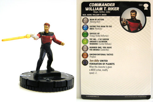 HeroClix - #001 Commander William T. Riker - Star Trek To Boldly Go