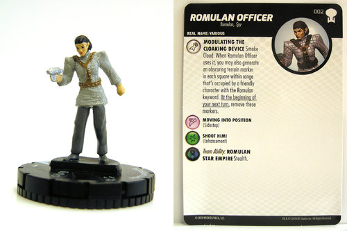 HeroClix - #002 Romulan Officer - Star Trek To Boldly Go