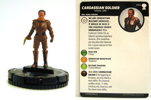 HeroClix - #003 Cardassian Soldier - Star Trek To Boldly Go