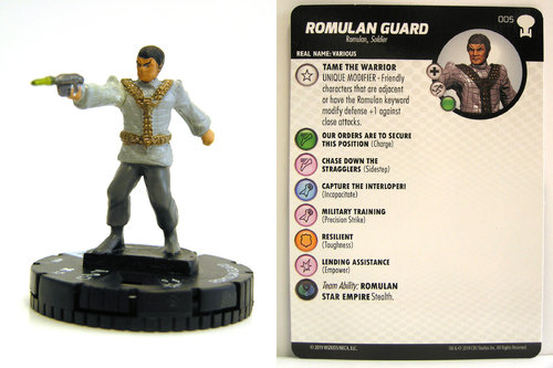 HeroClix - #005 Romulan Guard - Star Trek To Boldly Go