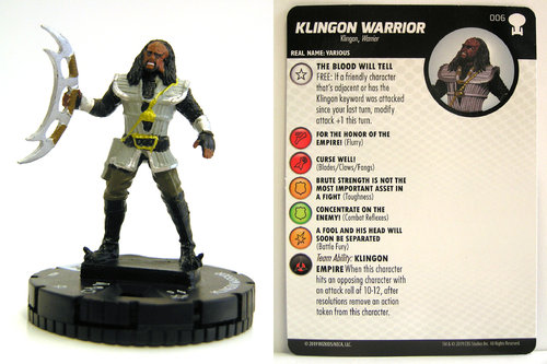 HeroClix - #006 Klingon Warrior - Star Trek To Boldly Go